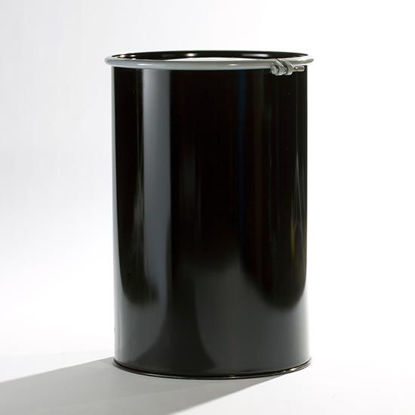 Picture of 55 Gallon Black Steel Open Head Drum, Buff Epoxy Phenolic Lined 1A2/Y1.2/100
