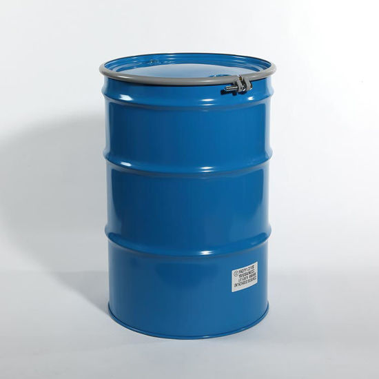 "Picture of 55 Gallon Blue Steel Open Head Drum, Olive Drab Lined w/ 2"" and 3/4"" Fittings, 1A2/Y1.2/100 & Y425/S"