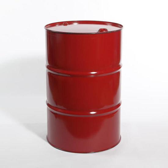 "Picture of 55 Gallon Momar Red Steel Tight Head Drum, Unlined w/ 2"" and 3/4"" Fittings, 1A1/X1.8/300"