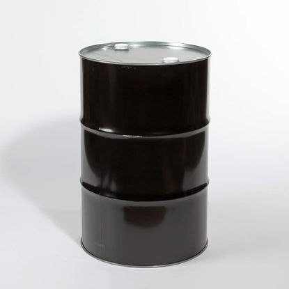 "Picture of 55 Gallon Black Steel Tight Head Drum, Unlined w/ 2"" and 2"" Fittings, 1A1/X2.0/350"