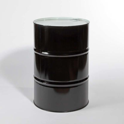 "Picture of 55 Gallon Black Steel Tight Head Drum, Unlined with 2"" and 3/4"" Fittings, 1A1/Y1.8/300"