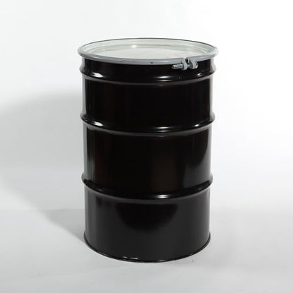 Picture of 55 Gallon Black Steel Open Head Drum, Unlined, 1A2/Y1.5/150 & 1A2/X400/S