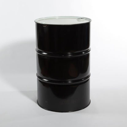 "Picture of 55 Gallon Black Steel Tight Head Drum, Olive Drab Lined w/ 2"" and 3/4"" Fittings, 1A1/X1.8/300"