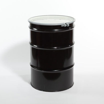 Picture of 55 Gallon Black Steel Open Head Drum, Unlined, 1A2/Y1.2/100 & 1A2/X400/S