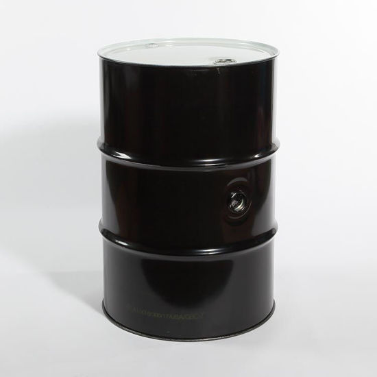 "Picture of 55 Gallon Black Steel Tight Head Drum, Rust Inhibited w/ 2"" and 3/4"" Fittings, 1A1/X1.8/300"