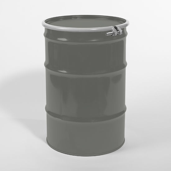Picture of 55 Gallon Gray Steel Open Head Drum, Unlined, UN