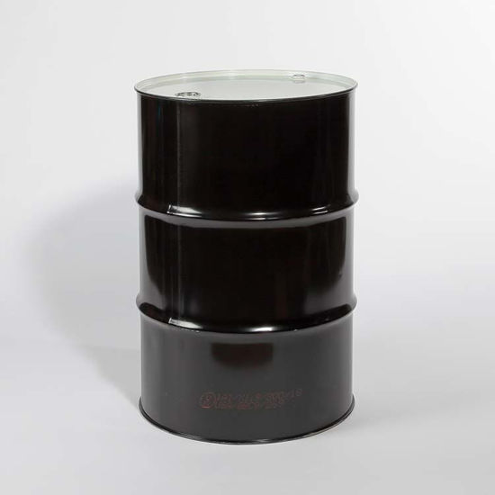 "Picture of 55 Gallon Black Steel Tight Head Drum, Unlined with 2"" and 3/4"" Fittings, UN"