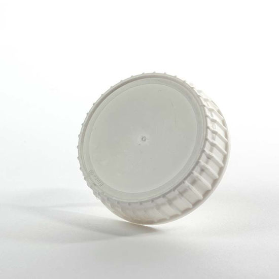 Picture of 63 mm White PP Screw Cap w/ FS 1-19 .035 mm Pulp, 2 Piece Heat Seal Liner