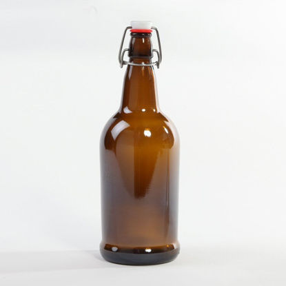 Picture of 1 liter Amber Swing-Top/Grolsch, 26-611, 12x1