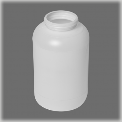 Picture of 128 oz Natural HDPE Wide Mouth Jar, 89-400, 4x1, 120 Gram
