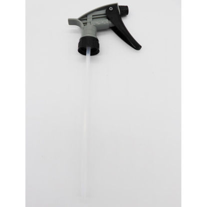 Picture of 28-400 Black/Gray PP Chemical Resistant Trigger Sprayer, 240mm Dip Tube