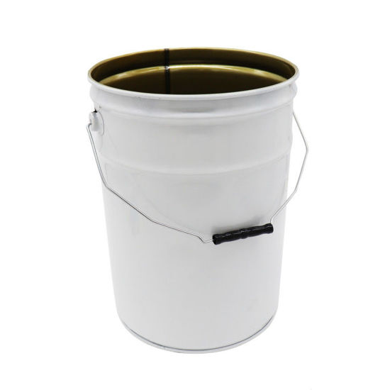 Picture of 6 Gallon White Steel Open Head Pail, Phenolic Lined, 1A2/Y1.9/100