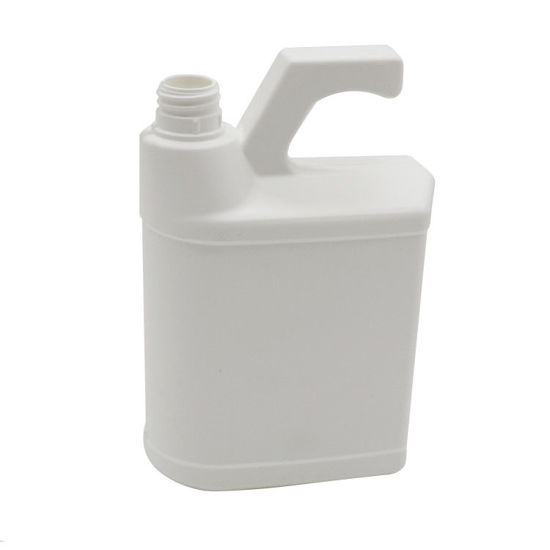 Picture of 32 oz White HDPE Hose End Bottle, 28mm with View Stripe