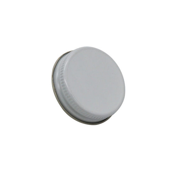 Picture of 38-400 White Metal Lug/Twist Cap with Plastisol Liner (No Button)