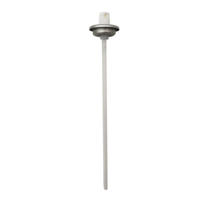 "Picture of White HDPE Big Button Aerosol Valve with 6 28/32"" Dip Tube"