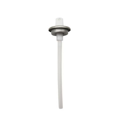 "Picture of White PP Aerosol Valve with 4 20/32"" Dip Tube"