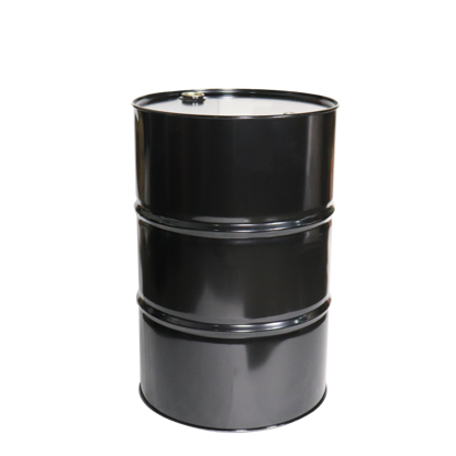 Picture of 55 Gallon Black Steel Tight Head Drum, Red Phenolic Lined with T-Style Fittings, 1A1/X1.8/300