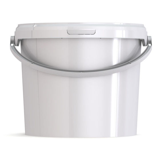 Picture of 2.51 Gallon White PP Eurotainer with Handle