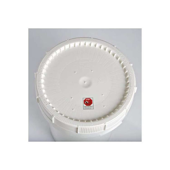 Picture of 12 Gallon White HDPE Life Latch New Generation Cover